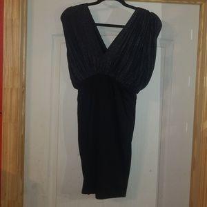 Size S petite black mini dress